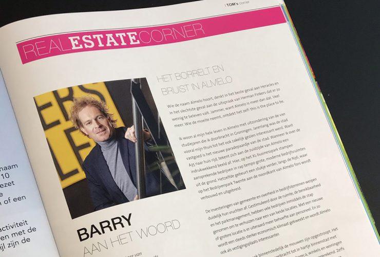 Column van Barry Seelen in Tom Magazine