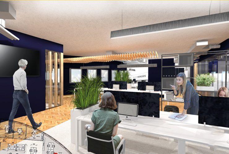Kantoortuin in duurzaam kantoorpand 2