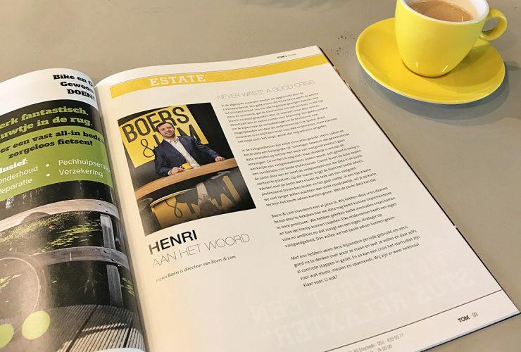 TOM uitgave juni 2020 4 met column Henri over beste data